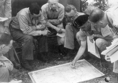 General Anders and other Commanders, Monte Cassino