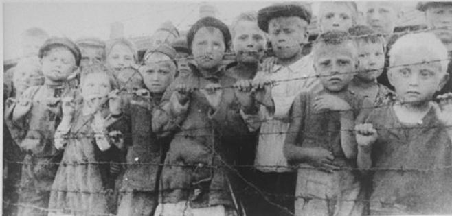 Polish Children in German Concentration Camp, WW2