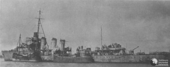 Polish Destroyer ORP Burza