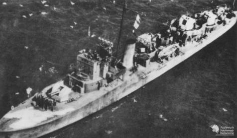 Polish Destroyer ORP Kujawiak