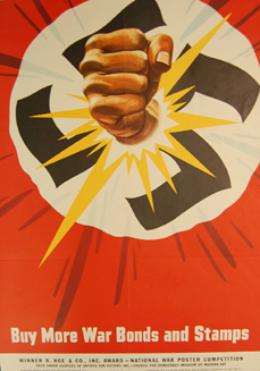 US Campaign Poster War Bonds WW2