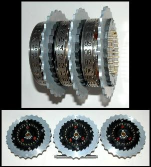 internal rotors of Enigma machine