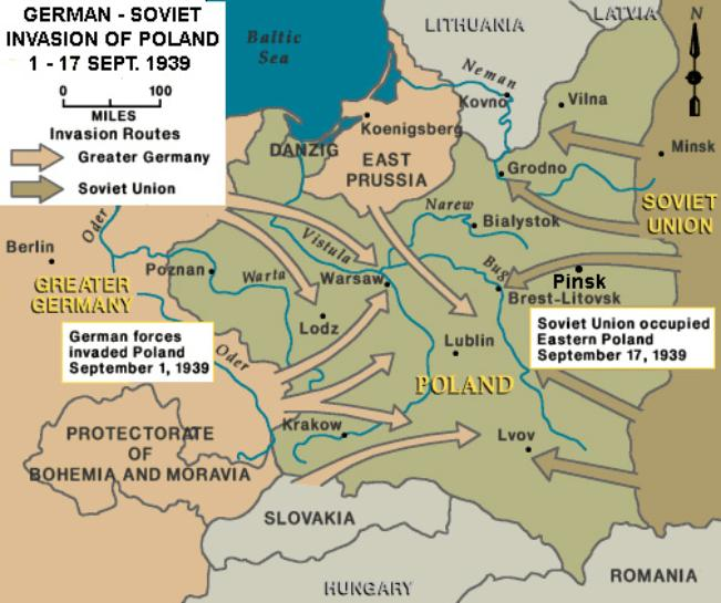 Septembe 1939 Invasion of Poland, map